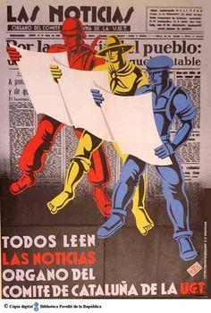 Todos leen Las Noticias : órgano del Comité de Cataluña de la UGT, 1936