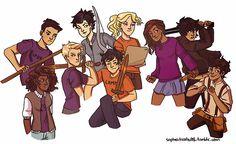 The seven plus Nico and Thalia