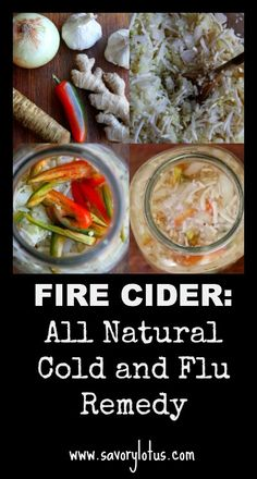 Fire Cider: All Natural Cold and Flu Remedy | www.savorylotus.com