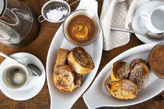 Recette de bouchées de pain doré au café—Une recette éclair délicieusement caféinée. Muffins, Brunch, Pretzel Bites, French Toast, Spaghetti, Menu, Bread, Cooking, Breakfast