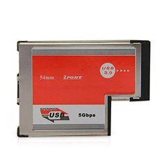 YOC Hot 2 Port USB 3.0 ExpressCard Card ASM 1042 Chipset 54 mm PCMCIA ExpressCard for Notebook