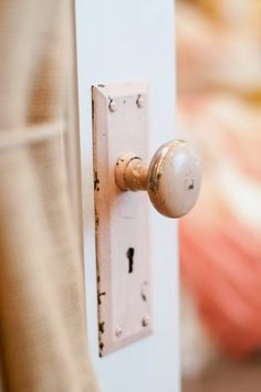 Switch out your modern door knob for a vintage pink one-perfect for a girl's room.