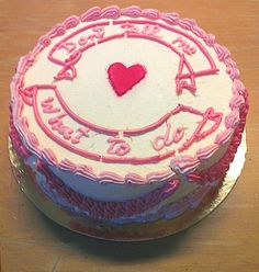 It's nicer if you say it with cake! Pretty Cakes, Cute Cakes, Beautiful Cakes, Amazing Cakes, Cake Wrecks, Lizzie Hearts, Funny Cake, Angel Cake, Love Cake