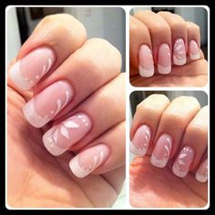 nail art: French tips