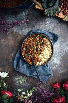 This easy and healthy Vegetarian Red Beans & Rice recipe is loaded with vegetables that cook down with the beans so they end up melt-in-your-mouth tender and packed with flavor.