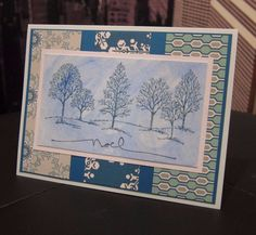 Stampin Up Lovely as a Tree  NOEL  Christmas/ Holiday Handmade Card Kit- 3 cards