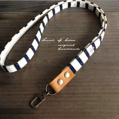 Nautical anchor unisex leather keychain key holder by SoundOfHome
