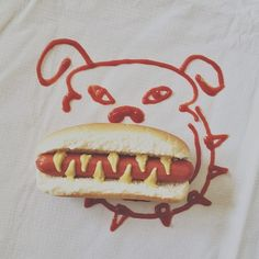 This is art!!!!!!!!!hot dog\\Brock Davis