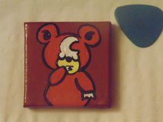 Handmade Teddiursa Magnet Pokemon Bear Moon Brown Orange Yellow White 2x2 (5.00 USD) by YumJellyDonuts