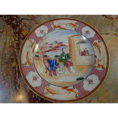 Assiette En Porcelaine De La Compagnie Des Indes Ep XVIIIème