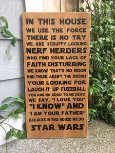 Star Wars Family Wood Sign – ABreezyCreation