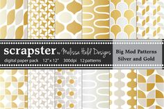 Big Mod Patterns: Silver & Gold by scrapster on Creative Market