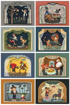 FABLES DE LA FONTAINE Illustrations by Elsita Mora