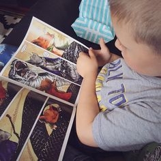 Introducing Ez Bear to the delights of Mouse Guard. He may not be able to read yet but it's not letting that hold him back