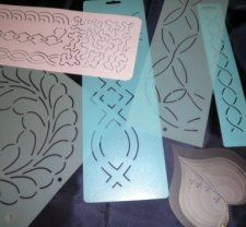 marking quilts with freezer paper | sewing | Pinterest | Freezer ... : quilt stencils for hand quilting - Adamdwight.com