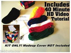 Make your own Rubik's Cube Tissue box Cover as seen on the Hit TV show The Big Bang Theory - A great Christmas gift for only $12.99. All Materials included and even a 40 minute Video Tutorial is provided for those not used to sewing.