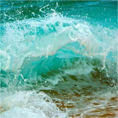 Wave tumble... love the turquoise water