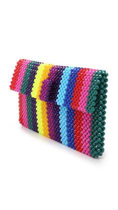 Trendy crochet bag and purses handbags christmas gifts 44 Ideas Beaded Clutch, Beaded Purses, Beaded Bags, Beading Patterns, Crochet Patterns, Best Leather Wallet, Christmas Fashion, Christmas Gifts, Bead Art