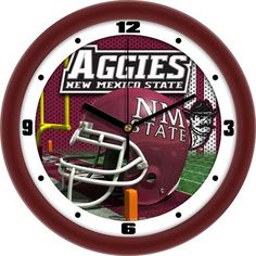 NCAA New Mexico State Aggies Football Helmet Wall Clock