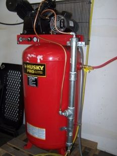 Air Dryer Homemade air dryer constructed from copper and galvanized iron pipe, fittings, and off-the-shelf dessicant