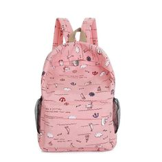 2016 Hot Sales High Quality Printing Backpack Women Men's Canvas Backpacks Boy Girl School Bags For Teenagers Travel Women Bags