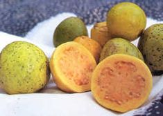 Guava - One of my favorite fruits. White or pink on the inside.