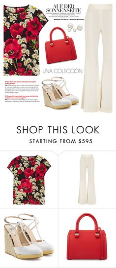 """""""Diner by the ViewPort"""" by sweet-jolly-looks ❤ liked on Polyvore featuring Dolce&Gabbana, E L L E R Y, Fendi, Victoria Beckham and Allurez"""