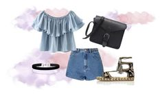 A fashion look from July 2016 featuring off the shoulder tops, blue jean shorts and black sandals. Browse and shop related looks. Blue Jean Shorts, Blue Jeans, Black Sandals, Miss Selfridge, River Island, Off The Shoulder, Fashion Looks, Glamour, Boho