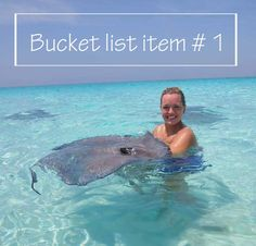 One of the most unique places to visit in the world - Stingray City Sandbar in Grand Cayman - just kiss a stingray for 7 years good luck!