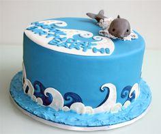 Risultati immagini per dolphin cake Dolphin Birthday Cakes, Dolphin Cakes, 10 Birthday Cake, Fondant Cakes, Cupcake Cakes, Cupcakes, Barcelona Cake, Surf Cake, Snowman Cake