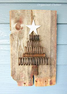 Holiday Junk: Re-purposed Rusty Spring Tree | Organized Clutter