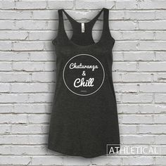 Women's Chaturanga and Chill Yoga Racerback Tank Top by Athletical Apparel