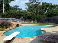 Swimming Pool with Diving Board Ideas