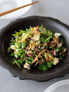 ごぼうと豆腐のチョップド・サラダ