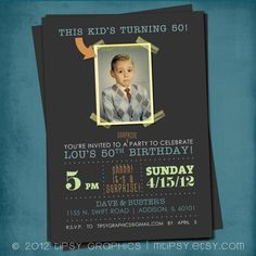 This  Kid's Turning 50. Modern Milestone Surprise by MTipsy, $16.00