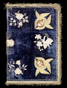 An Armenian gold and silver thread embroidered velvet book Cover Turkey, 18th/ 19th Century