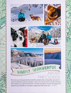 Above the Clouds by smultringunn at Studio Calico Travel Scrapbook, My Scrapbook, Scrapbook Paper Crafts, Scrapbook Examples, Paper Crafting, Scrapbooking Layouts, Digital Scrapbooking, Multi Photo, Above The Clouds