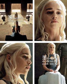 "Daenerys Targaryen: ""She played at being a queen, yet sometimes she still felt like a scared little girl."" #got #asoiaf"