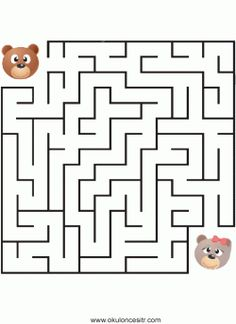 Labirent Bulmaca Sayfası Maze Worksheet, Worksheets, Kindergarten Activities, Preschool, Team Building Games, Arabic Words, Line Drawing, Games For Kids, Coloring Pages