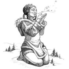 Inuit Mythology Project by Eva Widermann, via Behance Character Concept, Character Design, Inuit People, Inuit Art, Drawing Base, Dna Drawing, Medieval Fantasy, Crayon, Native American Art
