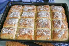 Perfekt bröd i långpanna. Perfekt att baka och fry... Bread Recipes, Baking Recipes, Homemade Dinner Rolls, Our Daily Bread, Breakfast Snacks, Banana Bread, Bakery, Food And Drink, Favorite Recipes