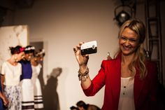 Zanna Roberts Rassi of Marie Clare, Nonoo Stylist. Photo taken with an HTC One. #NYFW #HTCmade