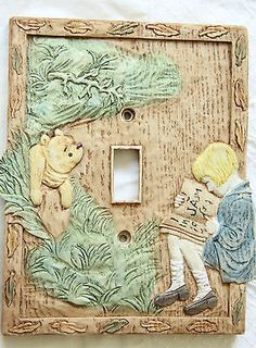 Disney Classic Winnie the Pooh Charpente Light Switch Plate Cover Baby Nursery
