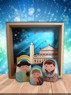 Nativity, Frame, Modern, Home Decor, Wonderland, Nativity Sets, Decorating Rooms, Picture Frame, Trendy Tree