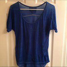 Sheer Swoop Shirt Sheer swoop neck tee! Comfy and flowing! Arizona Jean Company Tops Tees - Short Sleeve