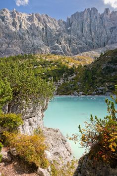 Lake Sorapiss, Dolomites, Veneto, Italy