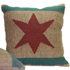 Wrightwood Furniture — Chicago Flag Pillow. (I just discovered this cool father-son furniture shop. Anxious to check it out in person.)