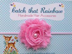 Baby headband Pink Baby headband baby girl by catchthatrainbow
