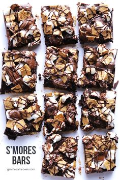 S'mores Bars Recipe | gimmesomeoven.com #dessert #chocolate