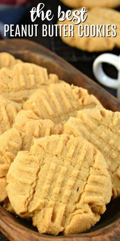 The Best Soft and Chewy Peanut Butter Cookies Recipe Perfect Peanut Butter Cookies. Soft and chewy, easy to make, and topped with a sweet sugar coating. You're going to love this delicious recipe! Keto Cookies, Yummy Cookies, Cookies Et Biscuits, Cookies Soft, Recipe For Cookies, Chip Cookies, Orange Cookies, Brownie Cookies, Oatmeal Cookies